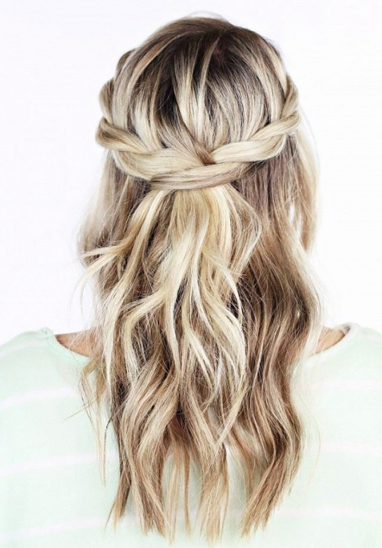 20 Awesome Half Up Half Down Wedding Hairstyle Ideas | Samantha's with regard to Hair Ideas For A Wedding