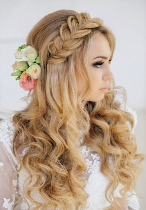 20 Creative And Beautiful Wedding Hairstyles For Long Hair within New Hair Ideas For A Wedding kls7