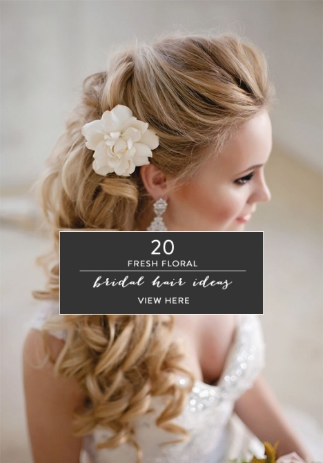 20 Fresh Floral Bridal Hair Ideas With New Hair Ideas For A Wedding Kls7