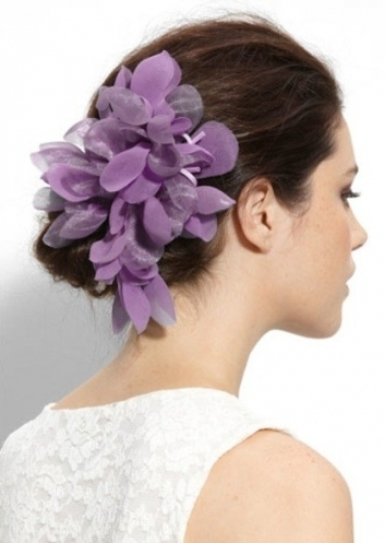 21 Bridesmaid Hair Accessories So Pretty You Could Base Your Whole In Unique Purple Wedding Hair Accessories Dt3