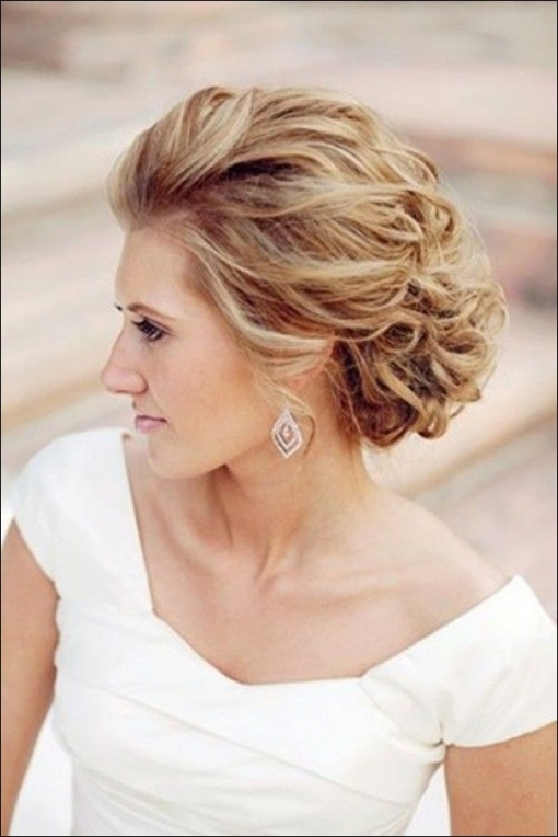 25 Most Favorite Wedding Hairstyles For Short Hair   The Xerxes Inside Short Hair Updo For Wedding