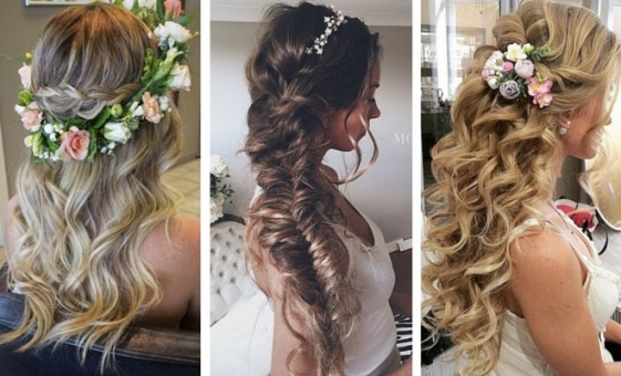 28 Trendy Wedding Hairstyles For Chic Brides | Stayglam Within Hair Styles Wedding
