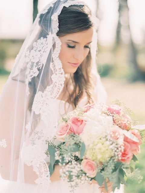 Beautiful Wedding Hair Half Up Half Down With Veil klp8