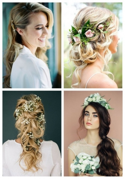 36 Inspiring Spring Wedding Hairstyle Ideas | Happywedd pertaining to New Hair Ideas For A Wedding kls7