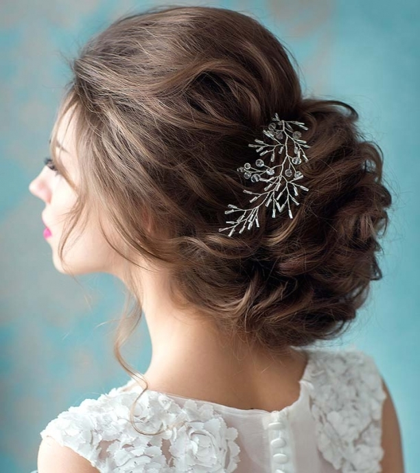 50 Fabulous Bridal Hairstyles For Short Hair regarding Inspirational Short Hair Updo For Wedding sf8