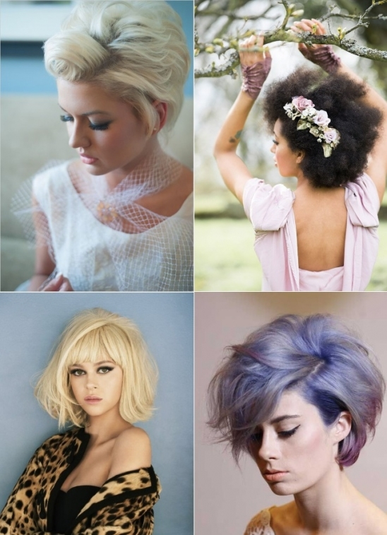 9 Short Wedding Hairstyles For Brides With Short Hair | Confetti.ie In Inspirational Short Hair Updo For Wedding Sf8