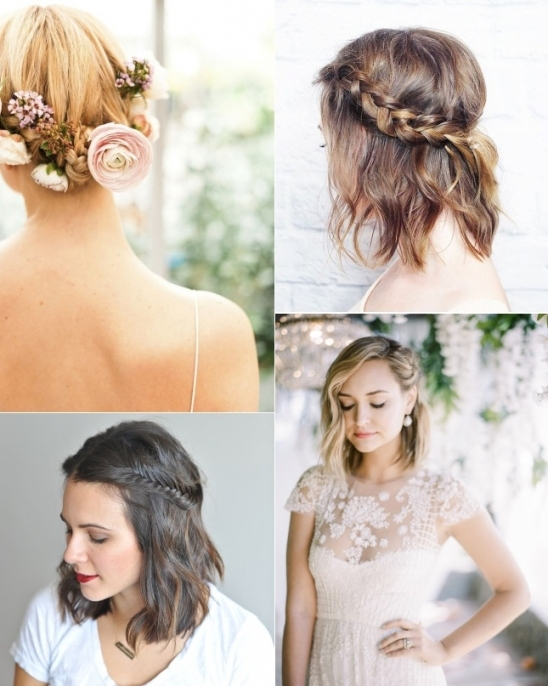 9 Short Wedding Hairstyles For Brides With Short Hair | Confetti.ie Inside Inspirational Short Hair Updo For Wedding Sf8