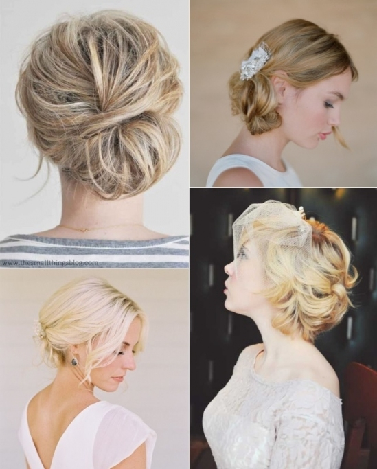 9 Short Wedding Hairstyles For Brides With Short Hair | Confetti.ie Pertaining To Inspirational Short Hair Updo For Wedding Sf8