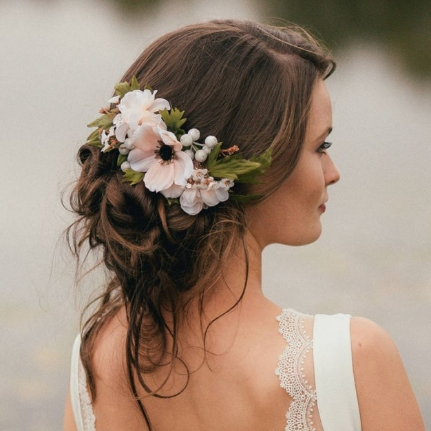 Luxury Wedding Hair With Flowers dt3