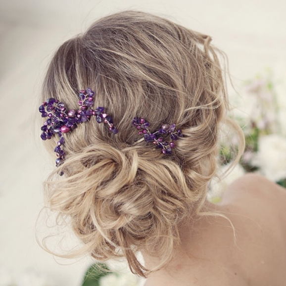Bridal Hair Accessories, Collection Of 2016Weddingbliss Intended For Purple Wedding Hair Accessories