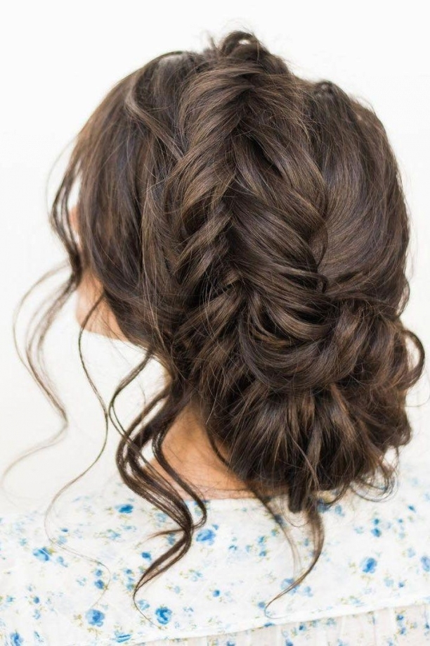Crown Braid With Messy Updo Wedding Hairstyle Idea #2736323 - Weddbook within Braid Wedding Hair