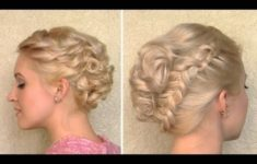 Curly Wedding Updo Prom Hairstyle For Medium Long And Short Hair intended for Inspirational Short Hair Updo For Wedding sf8