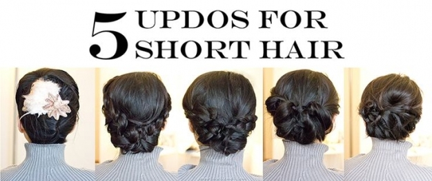 Easy Short Hair Updos For Weddings! Intended For Inspirational Short Hair Updo For Wedding Sf8