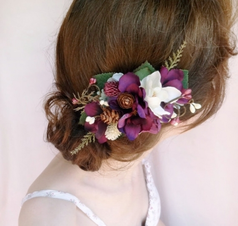 Unique Purple Wedding Hair Accessories dt3