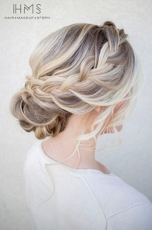 Gorgeous Wedding Updos For Every Bride | Updo Wedding Hairstyles With Regard To Awesome Braid Wedding Hair Klp8