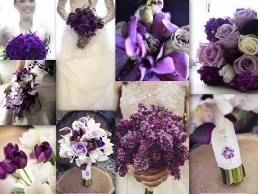 Hair Accessory, Purple, Lavender, Flowers, Wedding Accessories Inside Purple Wedding Hair Accessories