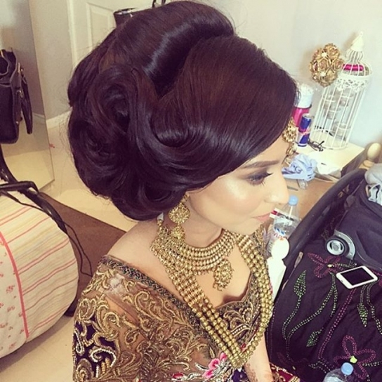 Hairstyle | Saira Rahman Hairstylist Asian Bridal Hairstylist In Throughout Big Wedding Hair
