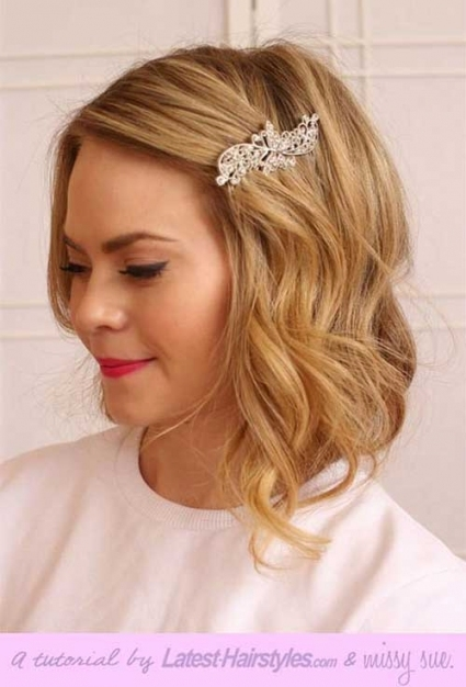 Hairstyles For Wedding Short Hair   Wedding Hairstyles With Regard To Short Hair Updo For Wedding