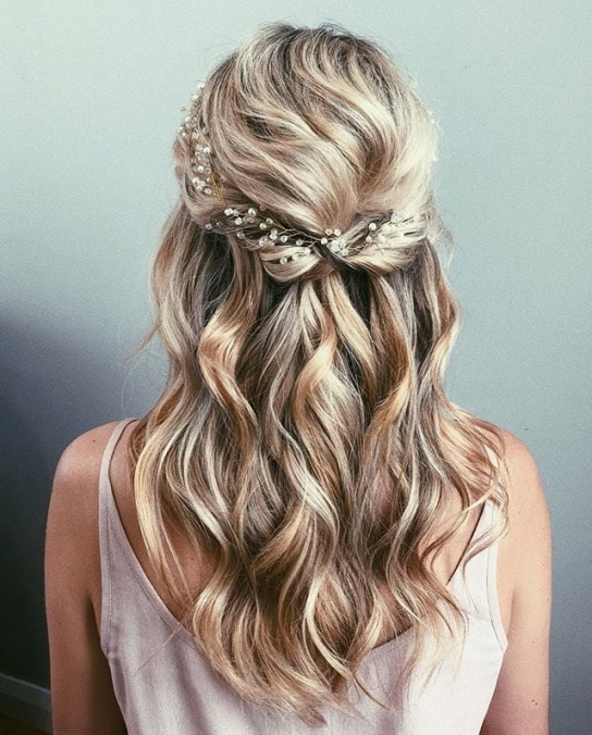 Half Up Wedding Hair Ideas | Popsugar Beauty Australia Within Hair Ideas For A Wedding