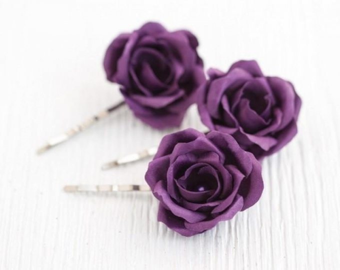 Lovely Purple Wedding Hair Accessories - Wedding Ideas throughout Unique Purple Wedding Hair Accessories dt3