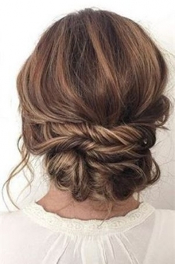 Messy Updo Hairstyles For Short Hair Luxury 20 Most Romantic Bridal regarding Inspirational Short Hair Updo For Wedding sf8