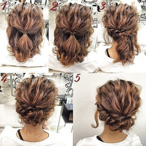 Pincourtney Deaton On Hoco/prom | Short Hair Styles, Curly Hair Regarding Short Hair Updo For Wedding
