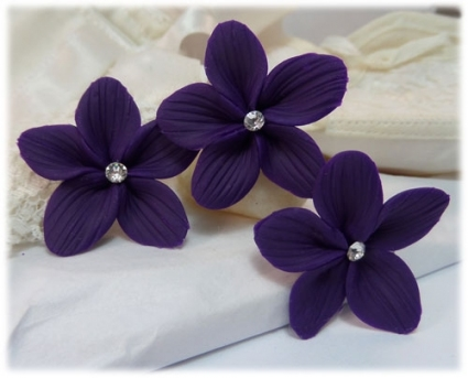 Purple Flowers For Wedding Hair   Flowers Healthy With Regard To Purple Wedding Hair Accessories