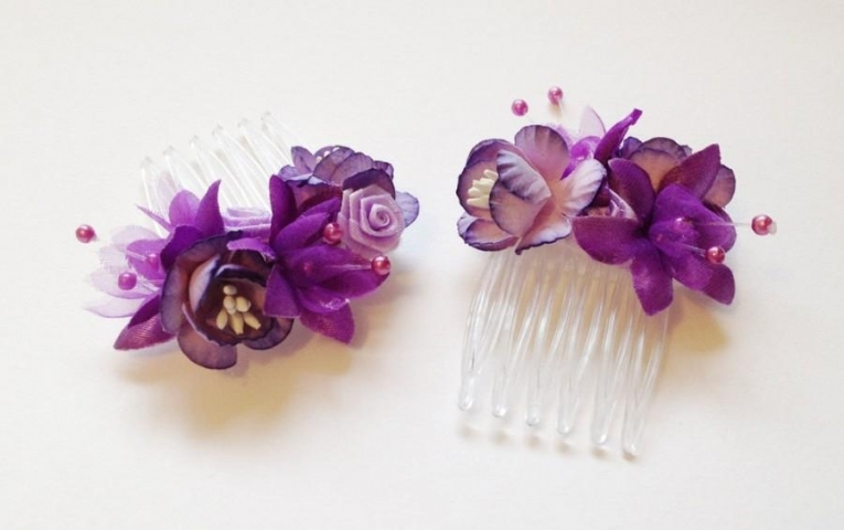 Purple Hair Accessories With Regard To Unique Purple Wedding Hair Accessories Dt3