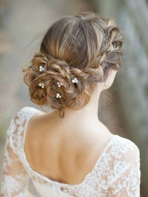 Set Of 5 Bridal Hair Pins Pearl Wedding Hair Pins Bridal Hair Bobby Pertaining To New Hair Pins For Wedding Ty4