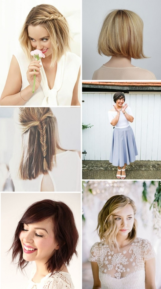 Short & Stylish: 18 Short Hairstyles For Brides & Bridesmaids Inside Inspirational Short Hair Updo For Wedding Sf8
