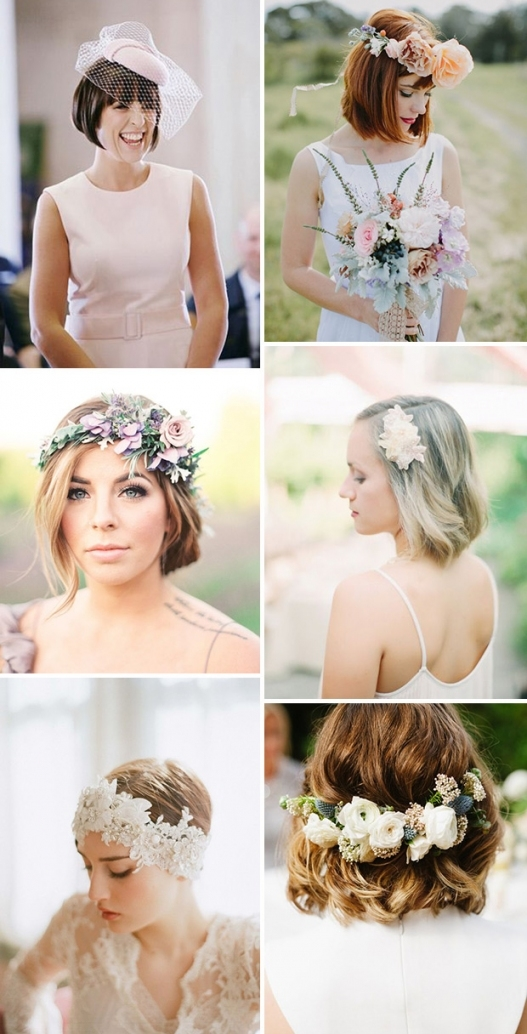 Short & Stylish: 18 Short Hairstyles For Brides & Bridesmaids Pertaining To Inspirational Short Hair Updo For Wedding Sf8