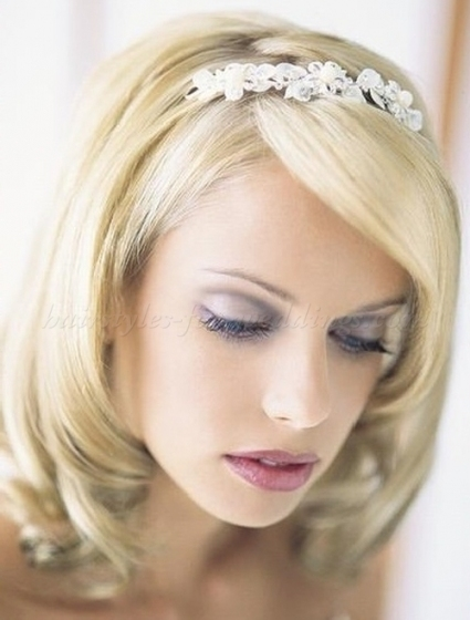 Shoulder Length Wedding Hairstyles   Medium Length Bridal Hairstyle Pertaining To Wedding Updos For Medium Length Hair