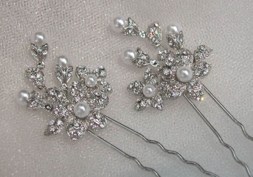 Swarovski Crystal Rhinestone Bridal Hair Pins With New Hair Pins For Wedding Ty4