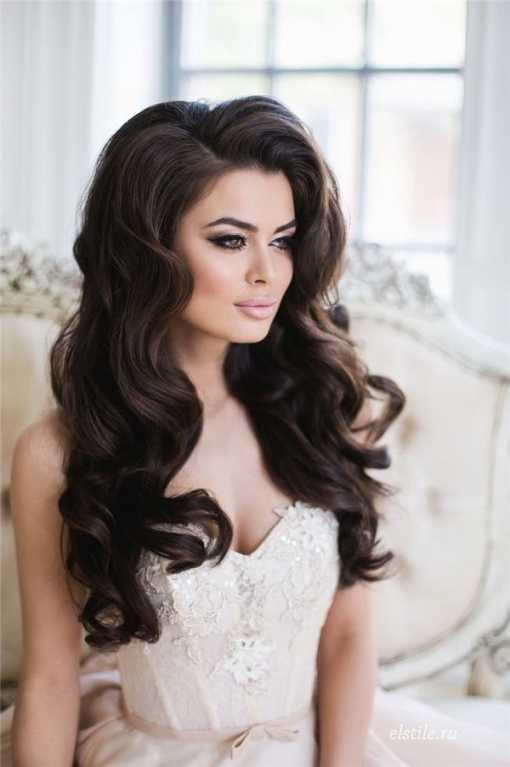 Top 20 Down Wedding Hairstyles For Long Hair   Unique Prom With Regard To Big Wedding Hair
