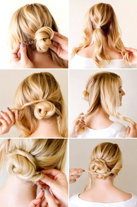 Unique Easy Bridesmaid Hairstyles For Short Hair Easy Updo With Regard To Short Hair Updo For Wedding