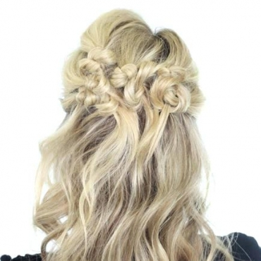 Unique Wedding Hairstyles For Shoulder Length Hair Half Up Half Down With Regard To Wedding Updos For Medium Length Hair