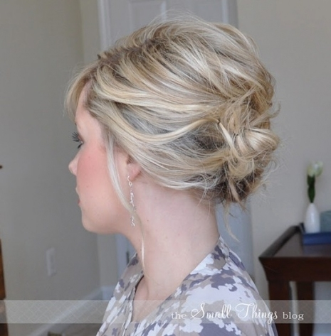 Updos For Short Hair: 69 Handpicked Short Hair Updo Styles | Hairstylo Intended For Short Hair Updo For Wedding